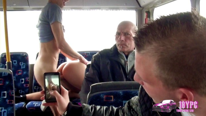 Lindsey sucks cock and then takes it from behind like a whore - porn in Public Transport 2014